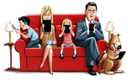 family worship, busy family